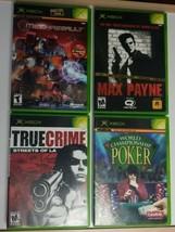 Original Xbox Game Lot Mechassault Max Payne True Crime World Champ Poker  - $19.62