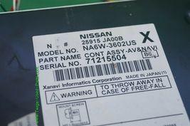 Nissan Altima GPS CD AUX NAVI Bose Stereo Radio Receiver Cd Player 25915-JA00B image 4