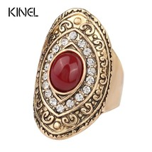 Vintage Oval Ring Fashion  Color Unique Wedding Rings For Women Mosaic C... - $19.30