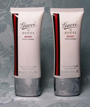 2 Pc LOT--Gucci By Gucci SPORTS 1.7oz Each After Shave Balm (As Shown) - $14.74