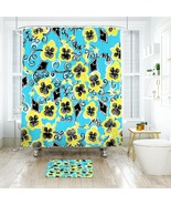 Flower Lilly Kappa Alpha Theta Shower Curtain Waterproof & Bath Mat For ... - $15.30+