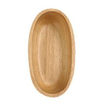 Wooden Dinnerware Fruit/ Meat/ Bread Plate Hull Form Bowl 15.8 X 8.3 X 4 CM - $14.34