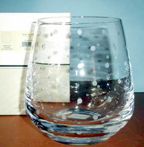 Kate Spade Larabee Dot Crystal Ice Bucket Etched Dots 90oz Lenox New in Box - $149.90
