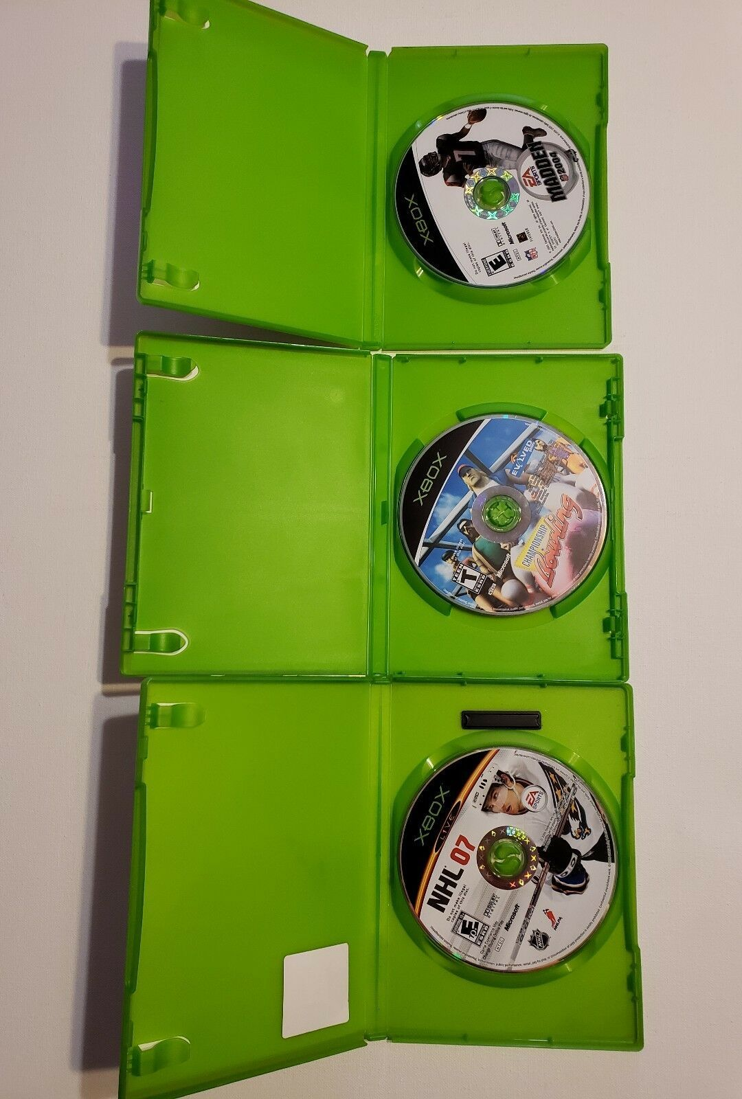 MICROSOFT XBOX - Lot of 3 Sport Madden 2004 NHL 07 & Bowling Games image 3