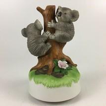 "Aldon Musical Koala Bears Rotating Figurine Porcelain 7"" - $14.01"