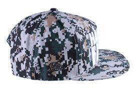 Hall Of Fame Chunk Heavy Embroidery Digi Camo Snapback Baseball Hat Cap NWT image 3