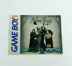 Addams Family Nintendo Game Boy Instruction Manual Book Only Ocean - $9.74