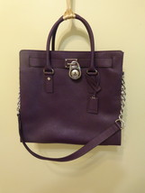 Authentic Michael Kors Hamilton handbag, New with tag, purple - $140.00