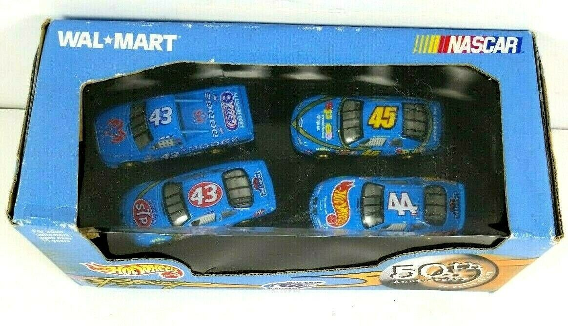 Primary image for 1999 Hot Wheels NEW Petty Racing 50th Anniversary Set of 4 1:64 NASCAR Mattel