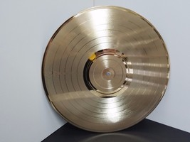 Gold 12 inch LP plated vinyl record award quality laser-able, engrave-able - $27.93