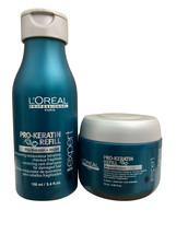 L'Oreal Pro Keratin Refill Travel Shampoo 3.4 OZ & Masque 2.55 OZ set - $12.99