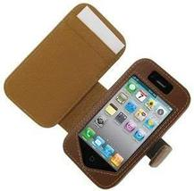 Monaco Book Type Brown Leather Cover Case W/Detachable Belt Clip For At&... - $12.82