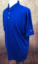 Nike Golf Dri-Fit Direct Energy 100% Polyester Blue Polo Shirt Men's XL - $24.74