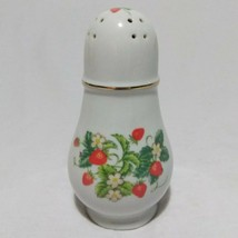 Strawberry Salt or Pepper Shaker Porcelain from Avon 22K Gold Trim Vintage - $9.93