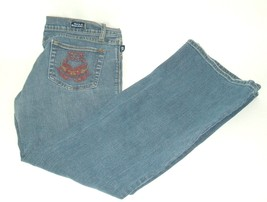 ROCK & REPUBLIC Roth Flare Stretch Denim Jeans Womens Sz 30 embroidered ... - $9.95