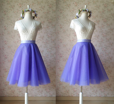 Gray Wedding Knee Length A-line Tulle Skirt Ballerina Skirt Bridesmaid Skirt NWT image 1