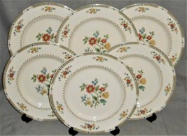 Set (6) Royal Doulton KINGSWOOD PATTERN Dinner Plates MADE IN ENGLAND - $178.19