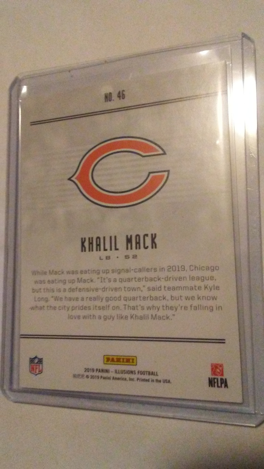 2019 Panini Illusions Khalil Mack Chicago Bears image 2