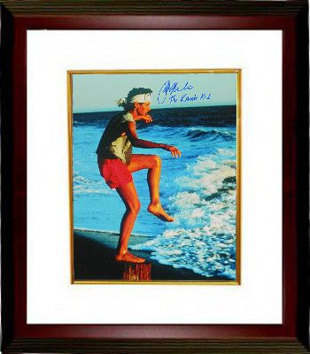Primary image for Ralph Macchio signed The Karate Kid Training on the Beach 16X20 Photo Custom Fra