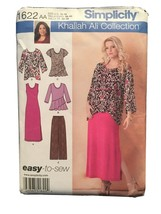 Misses EASY LOOSE TANK DRESS TOP TUNIC PANTS Simplicity Pattern 1622 AA ... - $6.34