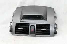 09-11 Toyota Corolla OEM Black Center Dash Top Trim Bezel Air Vents W/ Clock image 1