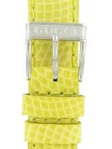 Gucci 14mm-Lizard Grain-Lemon Silver Tone Buckle Watch band 759116120 - $75.00