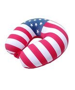 Neck Pillow Travel Pillow U-shaped Pillow Headrest Nap Time Pillow Flag ... - $15.92