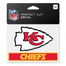 Kansas City Chiefs Decal 4.5x5.75 Perfect Cut Color**Free Shipping** - $14.20
