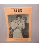 Elvis Presley My Way Sheet Music 1969 Spanka Paul Anka MCA Music - $17.99