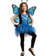Forum Novelties Kids Fluttery Blue Butterfly Costume, Blue, Medium - £38.02 GBP