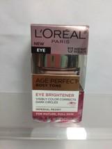 L'Oreal Eye Brightener Creme Care Age Perfect Rosy Tone Dark Circles .5oz - $6.64