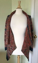Anthropologie Yellow Bird Open Front Cardigan Tribal Stripes SMALL S sweater - $18.47