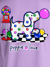 Puppie Love Rescue Dog Adult Unisex Short Sleeve Cotton Tee,Gumball Pup image 2