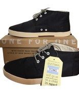 Toms Mens Paseo Black Mid Nylon Ankle Boots Sneakers Shoes Sz 9 NIB New - $99.99