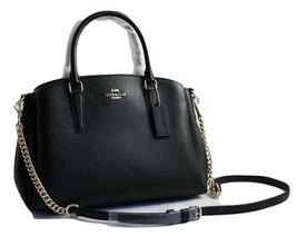"NWT COACH Black Crossgrain Leather ""SAGE"" Carryall Light GH F28976 AUTHE... - $150.00"