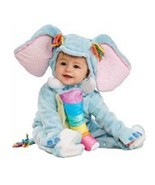Precious Baby Blue Elephant Infant 0-6M Costume w/Jumpsuit and Headpiece... - $22.99
