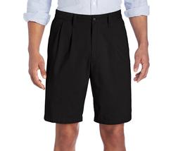 $48 Dockers Men's Perfect Short D3 Classic-Fit Pleated Short, Black, Siz... - $24.74