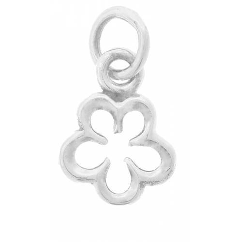 Primary image for Charm, Single Apple Blossom, Sterling Silver, 14x8mm, 1pc (4299)/1