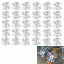 Luckycivia 30Pcs Double Sided Suction Cup, Suction Cups Without Hooks Sucker Pad
