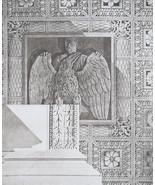 ROME Fragment from Arch of Titus Eagle Portrait - SUPERB 1905 Espouy Print - $15.84