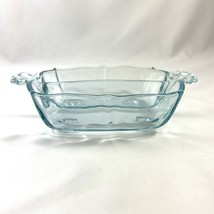 Fostoria Baroque Azure Blue Handled Divided Relish Dish Elegant Depression - $39.59