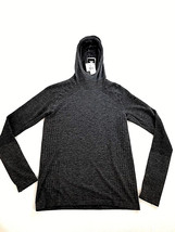 new ADIDAS men hoodie light sweater Climaheat running fitted grey S MSRP $120 - $45.99