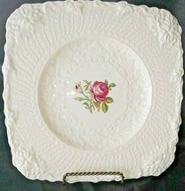 One Vintage Royal Cauldon Old Chester Floral Square Plate - $29.69