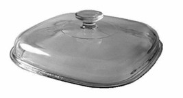 """Corning Ware / Pyrex Clear Square Glass Lid  9 3/4"""" Width   A-12-C  - $30.68"""