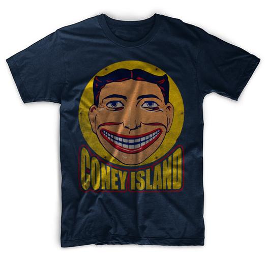 Steeplechase Coney Island Tornado Tillie Coaster Men Black T-Shirt Tee