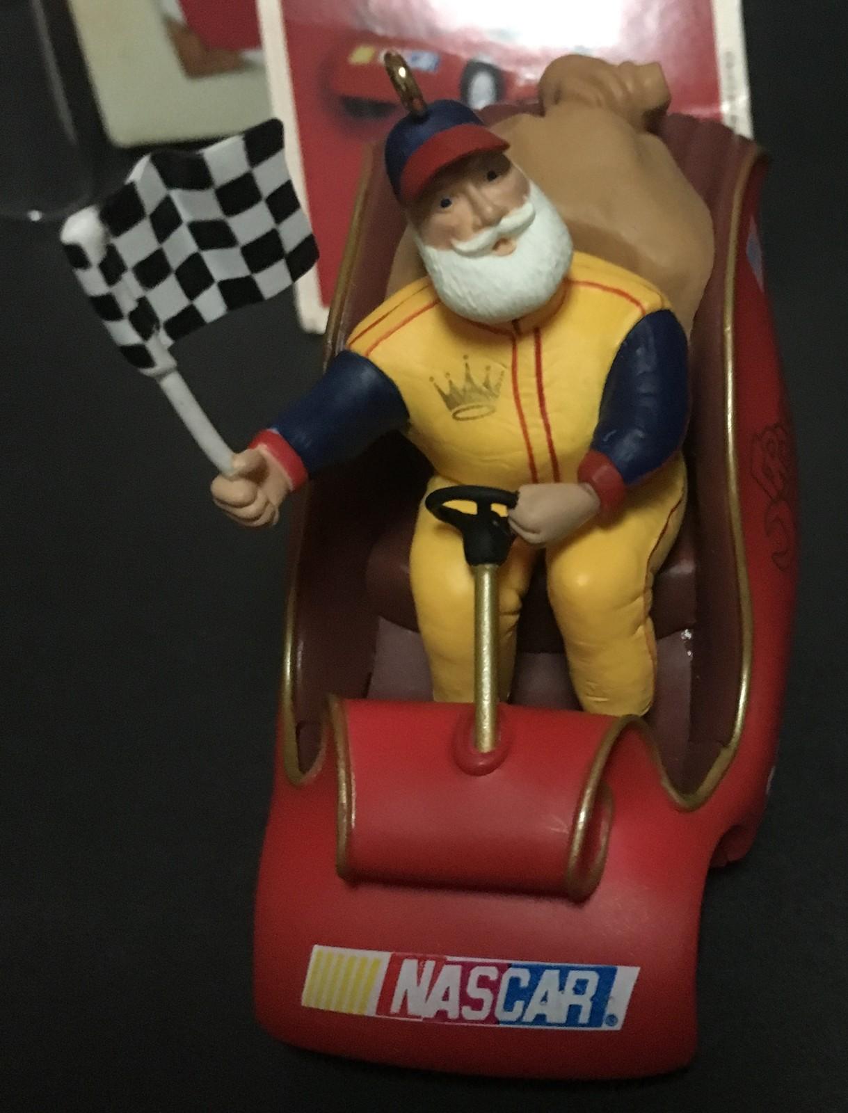 Hallmark 2002 Keepsake Ornament Nascar Santa's Racing Sleigh