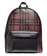 COACH CHARLES BACKPACK WITH WILD PLAID PRINT MSRP: $550.00 - $227.69