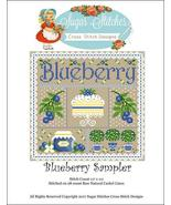 Blueberry Sampler cross stitch chart Sugar Stit... - $10.00