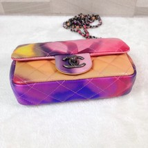 AUTHNTIC CHANEL LIMITED EDITION LAMBSKIN QUIILTED MINI FLOWER POWER FLAP BAG image 6