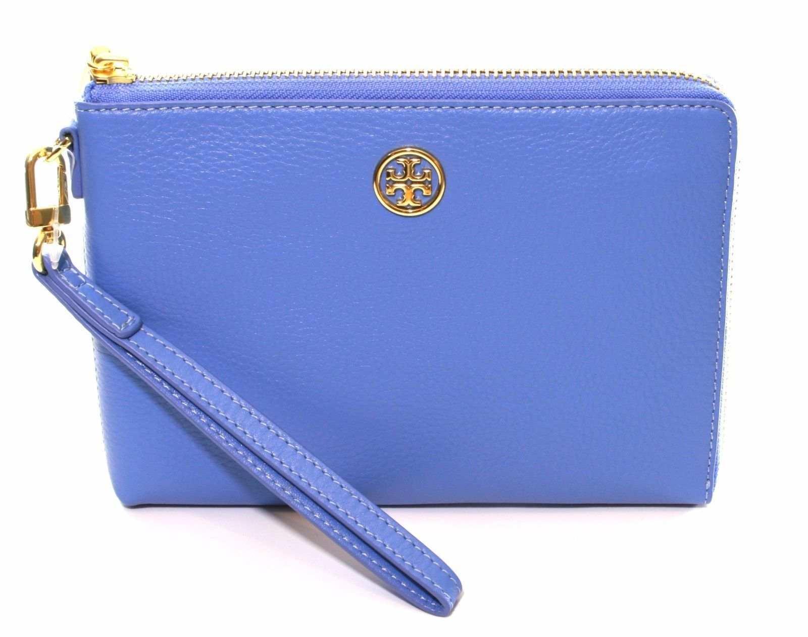 Primary image for Tory Burch Landon Large Wristlet Blue Dusk RRP £165